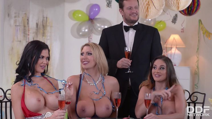 Stuffing And Cramming - New Year's Orgy And Group Sex Party