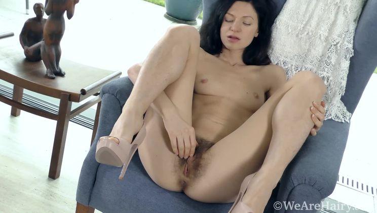 Efina orgasms wildly as she masturbates