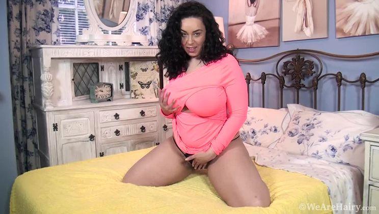 Anastasia Lux masturbates in her bedroom to orgasm