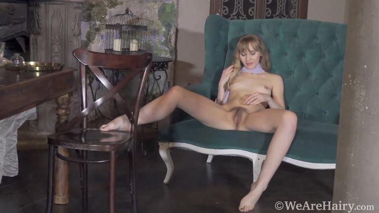 Beatrice strips naked in her elegant room